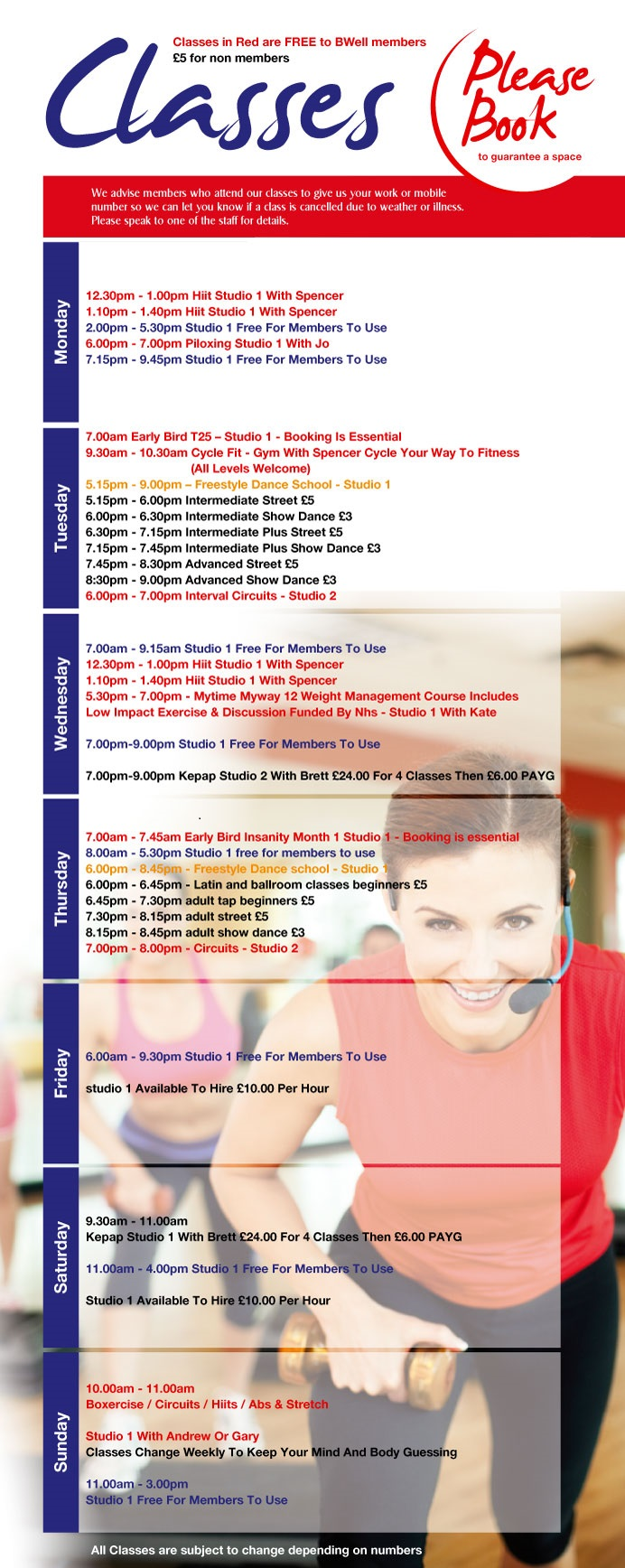 Class Timetable 2014