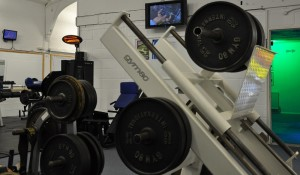 Free Weights Area now with TV