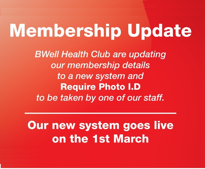 Gym Membership Update to Photocard